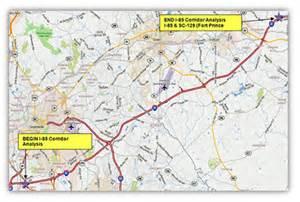 map of i 85 in carolina i 85 corridor