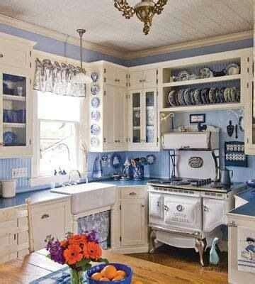 country blue kitchen cabinets vintage country kitchen home decor that i love pinterest stove country and country kitchens