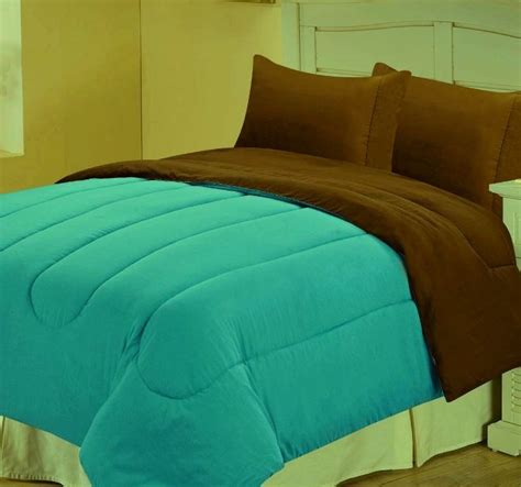 Home Design Alternative Color Comforters Alternative Reversible Comforter Teal Chocolate