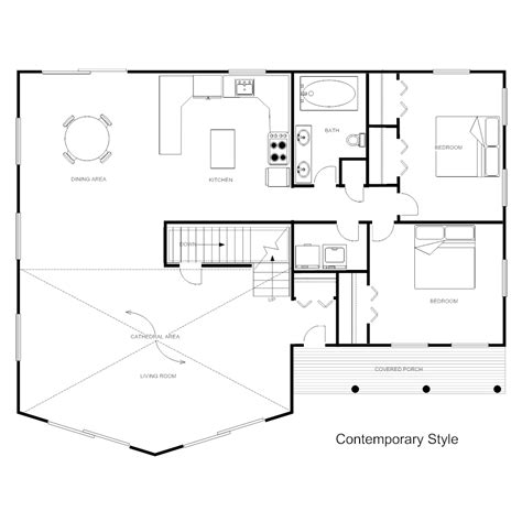 home design template floor plan templates draw floor plans easily with templates