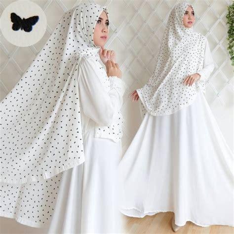 Gamis Syar I Putih baju gamis sesuai syar i gamis murni