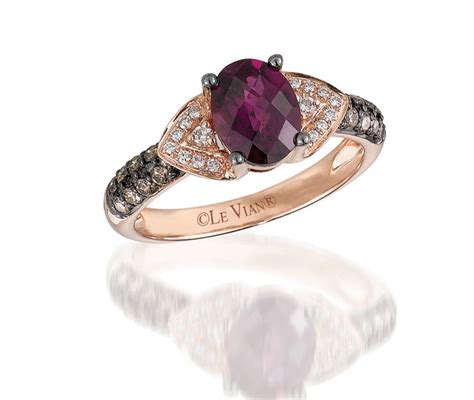 levian 174 strawberry gold garnet ring charm diamond centres