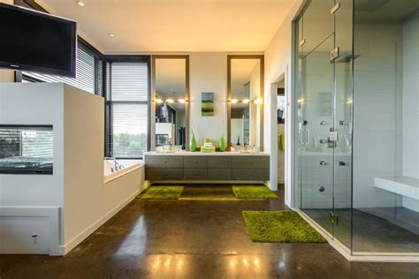 polished concrete in bathroom 17 concrete bathroom floor designs ideas design trends