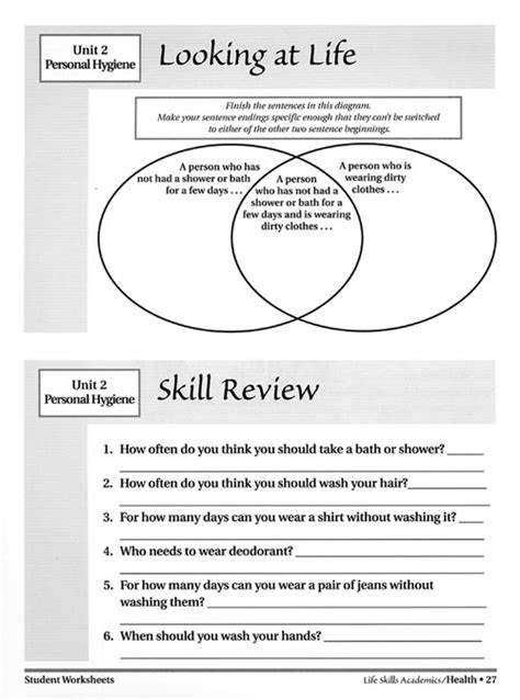 Free Printable Skills Worksheets For Adults