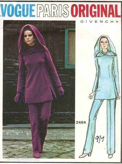 Givency Maxy 1970s fab vogue original 2484 givenchy tunic and pattern space age mod style