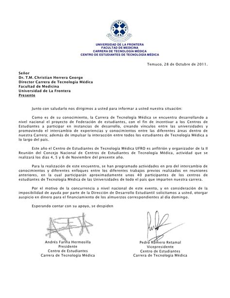 carta formal universidad carta fenetem director de