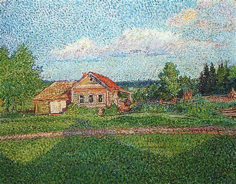 house landscape landscape with a house david burliuk wikiart org