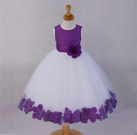 White Flower Dress Size M purple and white flower dresses flower inspiration