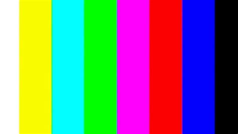 when was the color tv tv color bar