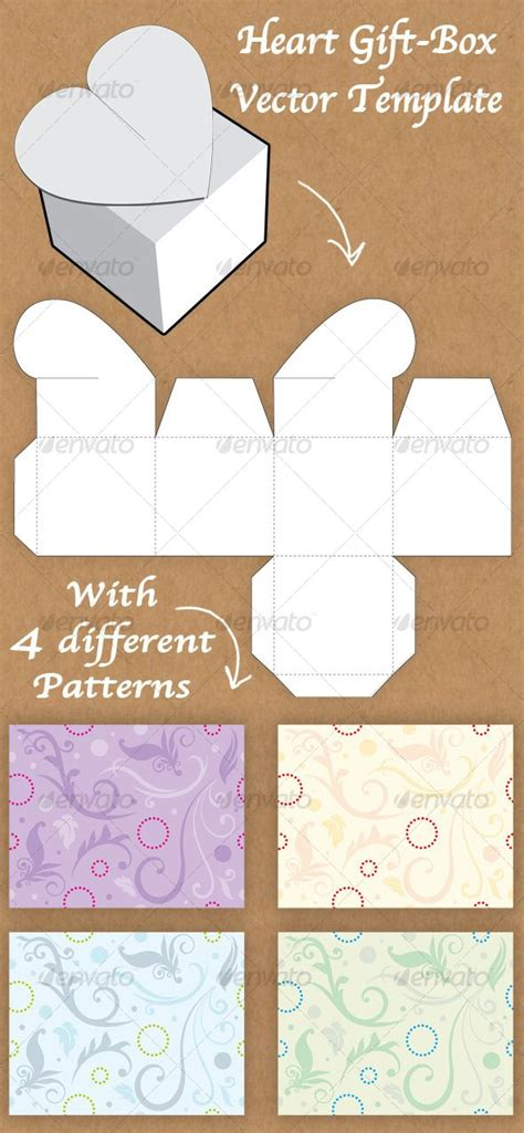 gift card package template box templates picmia