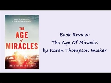 The Miracle Season Age Rating Book Review 17 The Age Of Miracles By Thompson Walker