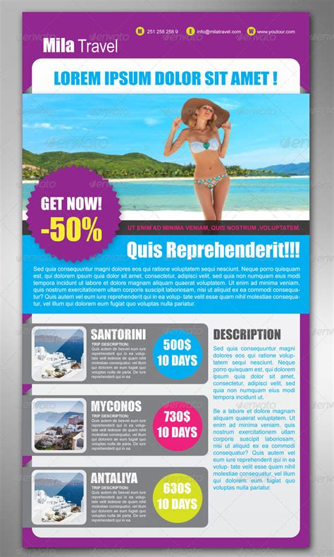 travel newsletter templates email newsletter templates by milana graphicriver