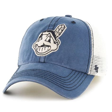 47 brand cleveland indians mlb rockford mesh baseball cap
