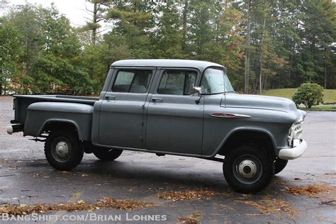 bangshift 1957 chevy factory orrville crew cab conversion