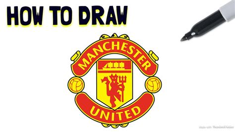 tutorial logo manchester united how to draw the manchester united fc crest drawing