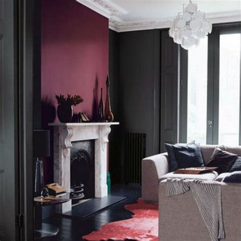 Burgundy Accent Wall Living Room Photos Burgundy Accent Wall Colors Gray Rooms