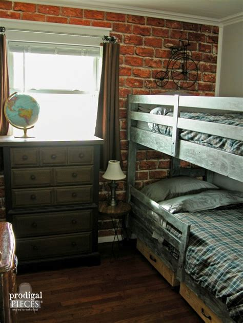 Master Bedroom Makeover Ideas teen boys room reveal vintage industrial style