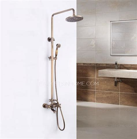 Outside Shower Faucet by Antique Bronze 2 Handle Brass Outdoor Shower Faucets
