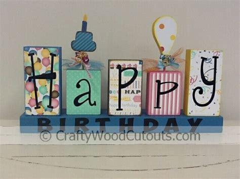 Papercraft Happy Birthday - new happy birthday wood crafts laundry vinyl crafty