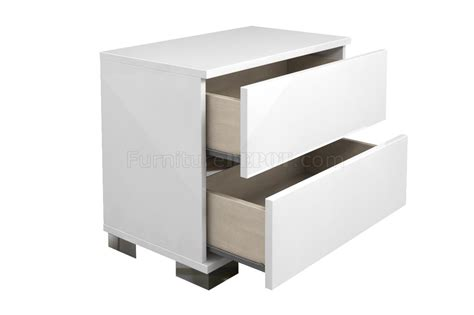 high nightstand spark nightstand set of 2 high gloss white lacquer by