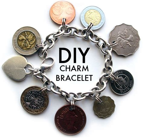 how to make coin jewelry diy charm bracelet on what i wore