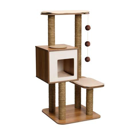 Stylish Cat Tree vesper cat furniture v high base petco