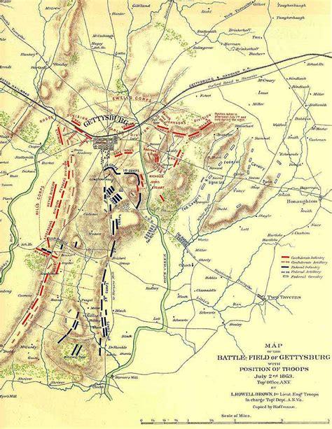 gettysburg map gettysburg battle american civil war july 1863