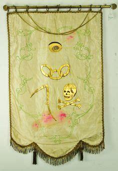 embroidered masonic banner | fave masonic imagery