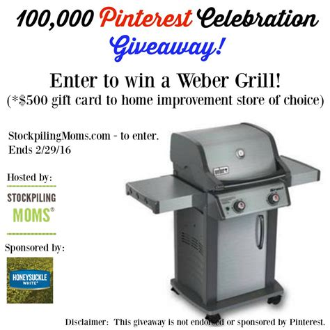 Gas Sweepstakes - gas grill giveaway 500 value closed