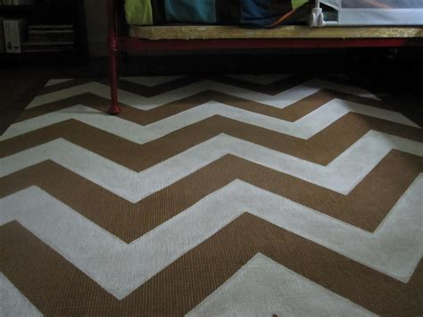 weekend painting chevron rug our humble abode