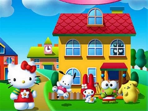 hello kitty house wallpaper disney cartoons coloring pages part 9