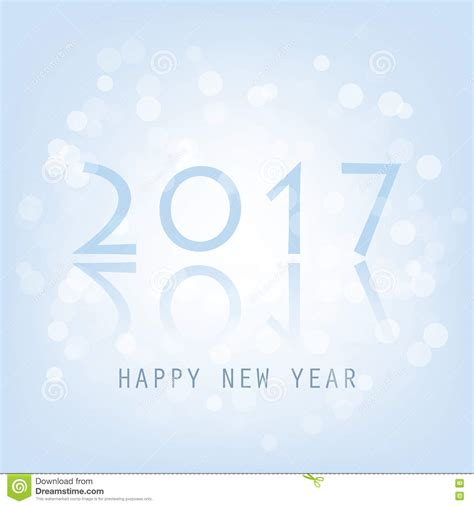 new year postcard template happy new 2017 year modern design on blue background