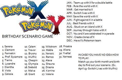 Pokemon Birthday Meme - pokemon x and y birthday scenario game birthday scenario