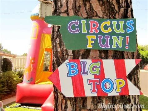 diy carnival birthday carnival theme or circus theme diy inspired