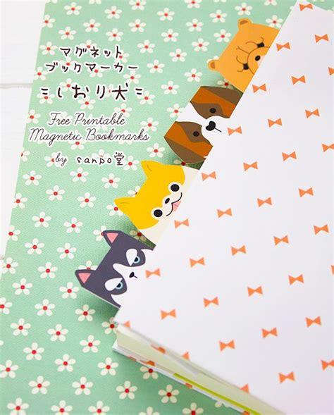 printable animal bookmarks free printable cute animal magnetic bookmarks free