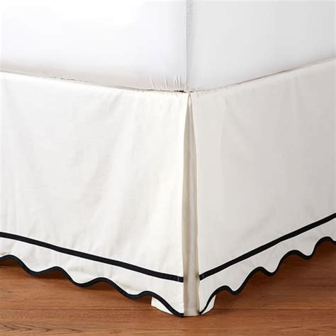 scalloped bed skirt the emily meritt scallop bedskirt pbteen