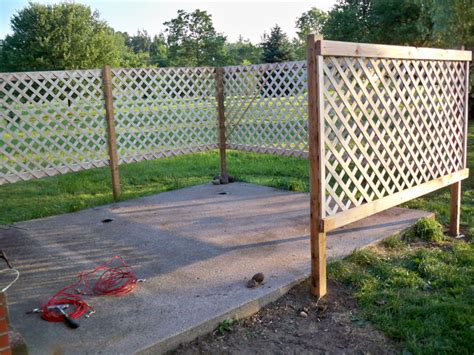 Fence Ideas For Patio by Diy Patio Lattice Fence Add Climbing Morning Glorys For