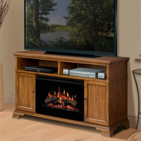 electric fireplace tv stand on menards electric