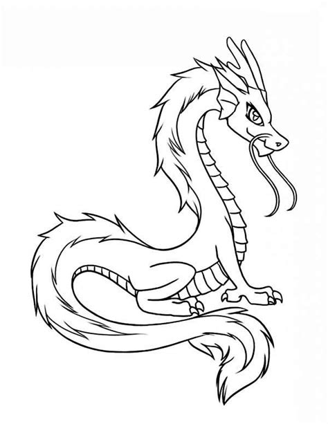 chinese dragon coloring pages easy dragon chinese dragon illustration in cartoon coloring