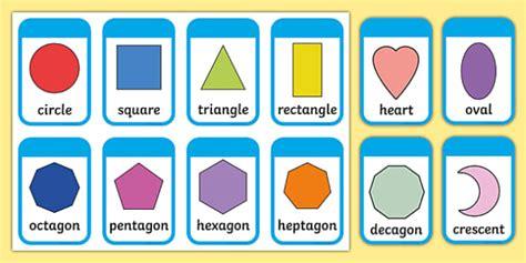 printable shapes display 2d shape flashcards inc shape names 2d shape names shape