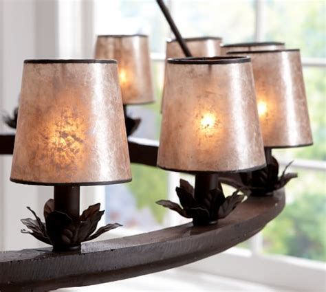Mini Mica Drum Chandelier Shade Set Of 3 Pottery Barn