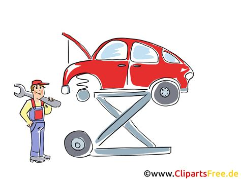 werkstatt clipart auto auf der hebeb 252 hne clipart bild grafik