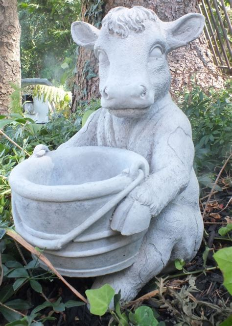 Cow Planters by Dutchmna Fountains Cast Cow Planter Statuary