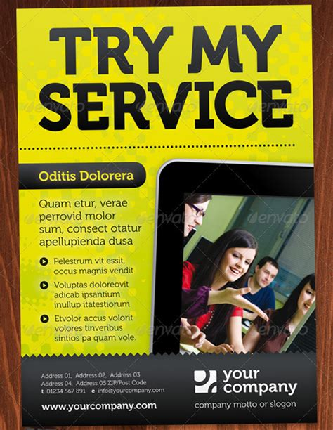 service flyer template 16 fantastic indesign flyer templates