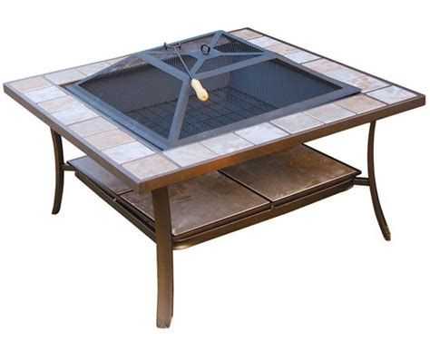 Metal Pit Table 36 Inch Square Outdoor Metal Pit Stove Table