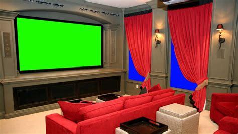 vip home cinema theater  green screen  stock footage