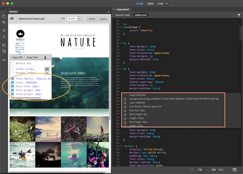 tutorial photoshop to dreamweaver how to extract assets from psd files into dreamweaver web