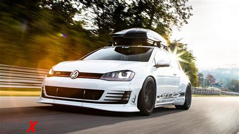 volkswagen golf custom volkswagen gold mk7 gti rs rocket bunny wide body