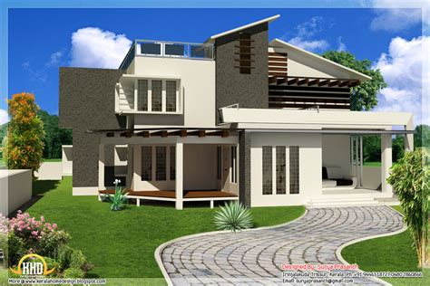 contemporary home plans with photos new contemporary mix modern home designs kerala home