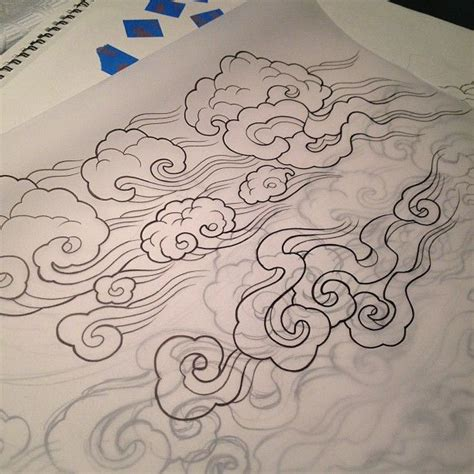 smoke cloud tattoo designs tibetan clouds artistically me tibet